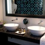 Grand deluxe bathroom at Palacio de Villapanes, Seville, CÚRATE Trips