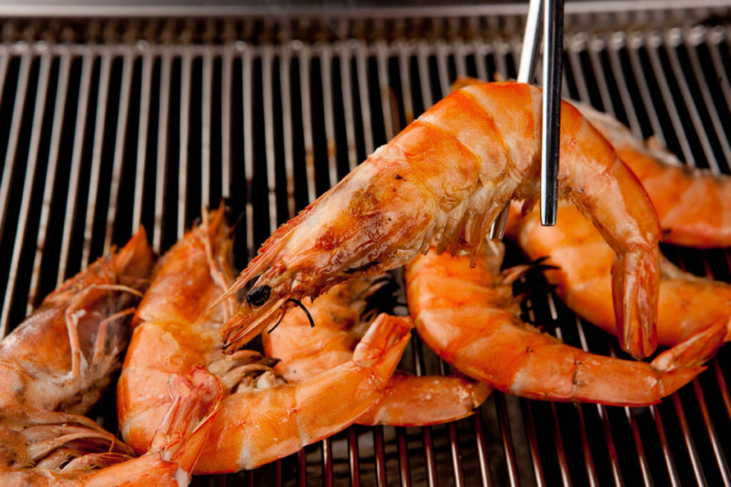 Gambas in Spain, delicious seafood