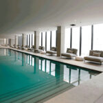 Indoor pool at Montebelo Vista Alegre hotel in Aveiro, Cúrate Trips