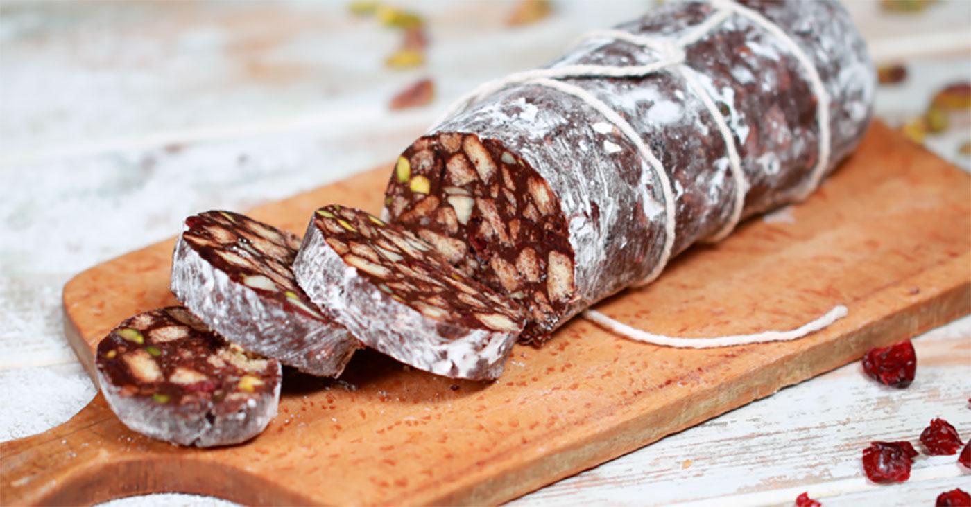Salame de Chocolate, popular Portuguese Easter dessert